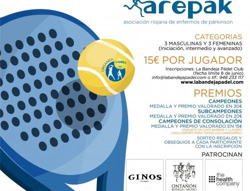Torneo benéfico de padel en Pamplona